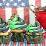 Patriotic Camouflage Cupcakes - Military