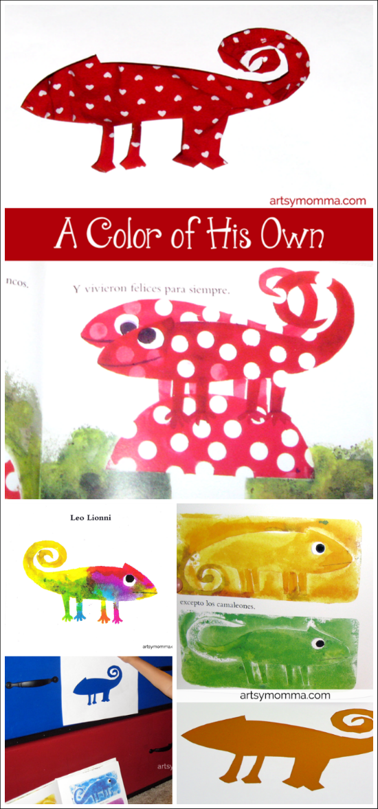 Color Changing Chameleon Activity | A Color of His Own Book - Artsy ...