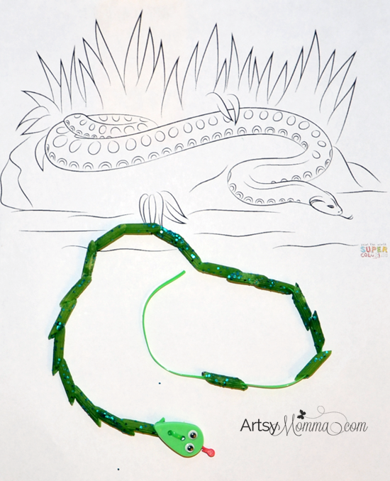 Preschool Rainforest Theme: Anaconda Busy Bag