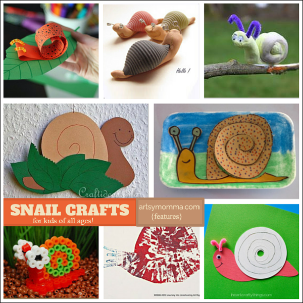 16 silly snail crafts for kids of all ages artsy momma for Fun crafts for all ages