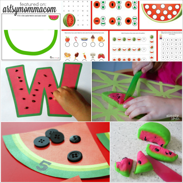 Watermelon Themed Activities for playing and learning