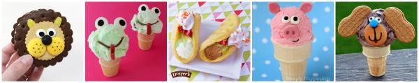 Animal Inspired Ice Cream Snacks
