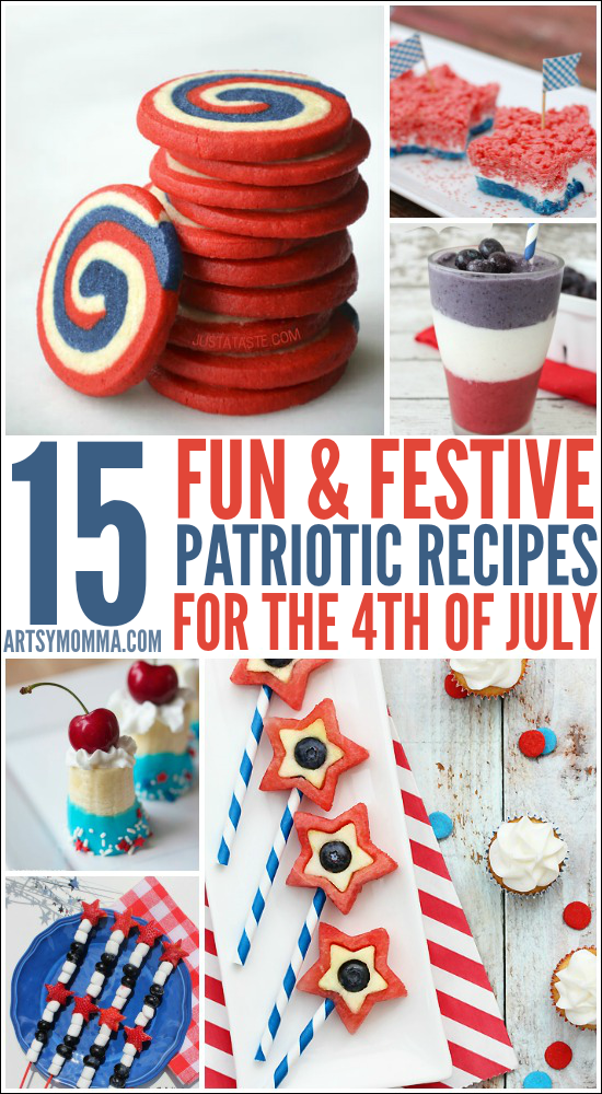 15 different 4th of July recipes that are fun to make with the kids!