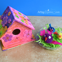 Easy Wooden Birdhouse Craft for Kids