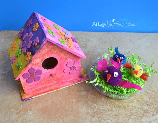 Kids Birdhouse Craft