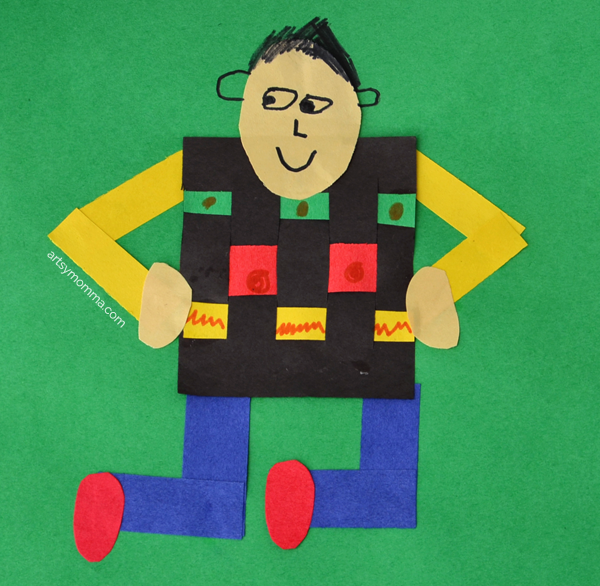 Learn about Ghana with this kids kente cloth craft!