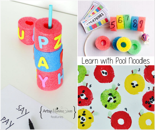 10 Ways to Learn Play with Pool Noodles