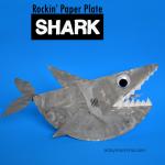 Paper Plate Shark that Rocks - Kids Craft