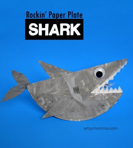 Paper Plate Shark Craft that Rocks - Kids Craft