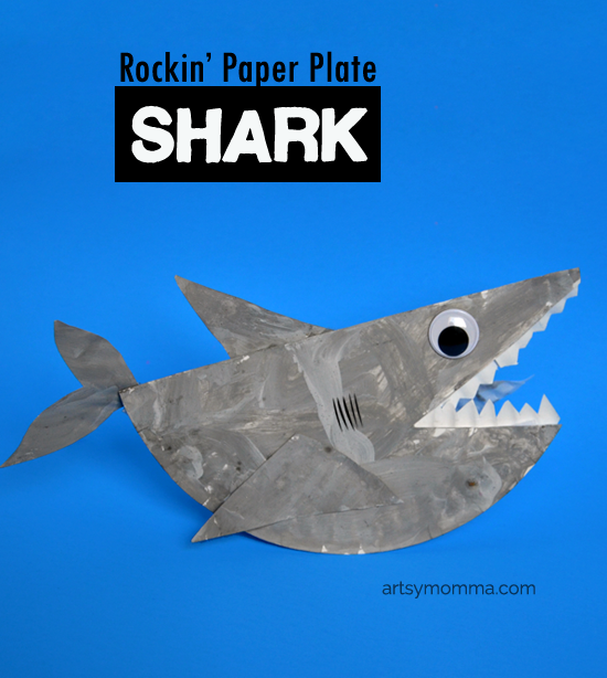 Paper Plate Shark that Rocks - Kids Craft
