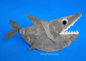 Paper Plate Shark that Rocks - Ocean Craft