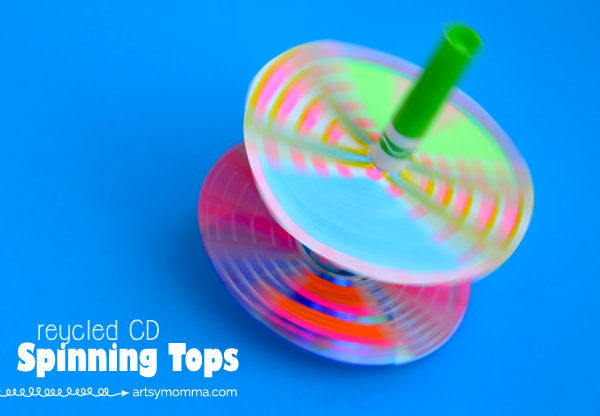 Recycled Cd Double Layered Spinning Top
