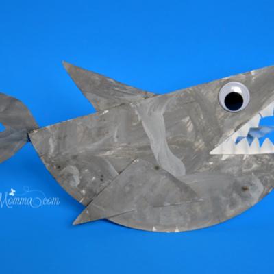 Paper Plate Shark that Rocks - Ocean Craft