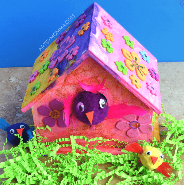 Wooden Bird House Craft for Kids f