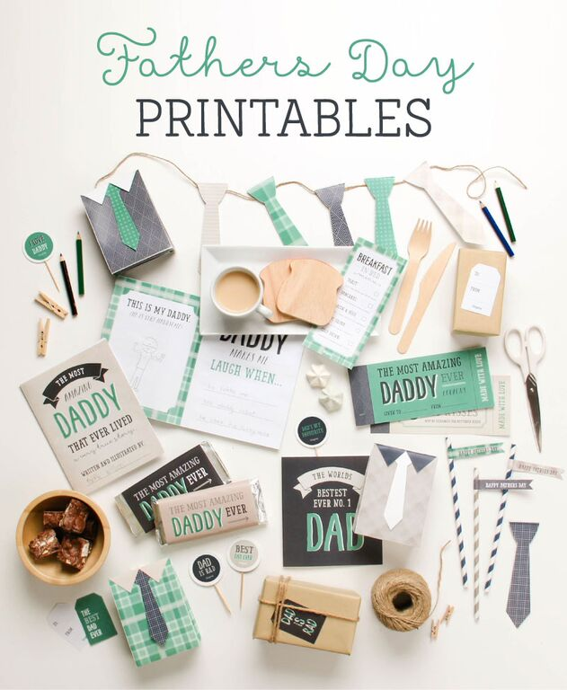 Gorgeous Father's Day Printables including cards, fun food ideas, party, & more!