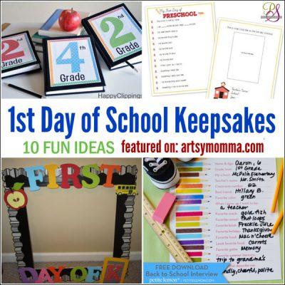 10 Memorable 1st Day of School Keepsakes