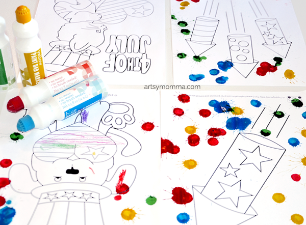 Cute 4th of July Coloring Pages: Rockets, Flags, & More!