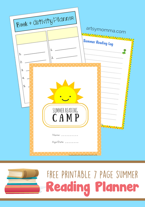 Free Printable Reading Planner for Book Based Activities