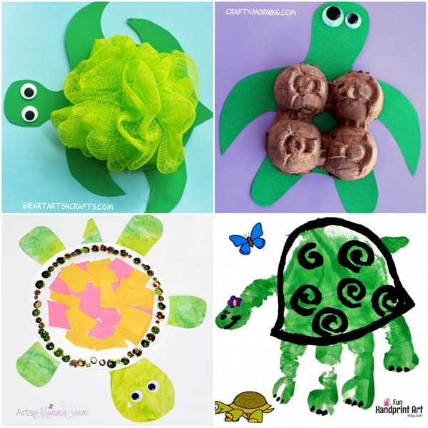 4 Cute Turtle Crafts that are easy to make!