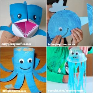 Adorable Ocean Animals - Kids Crafts