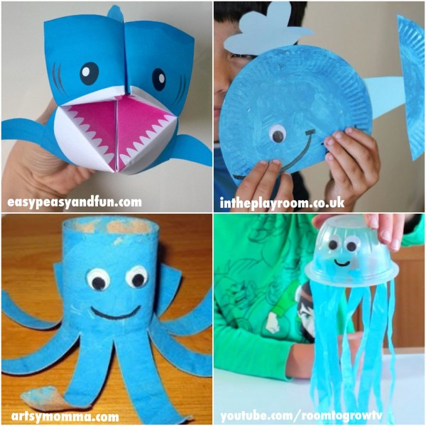 20 Fun Ocean Crafts For Kids Of All Ages
