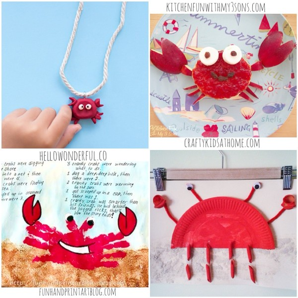 Happy Crab Crafts for Kids