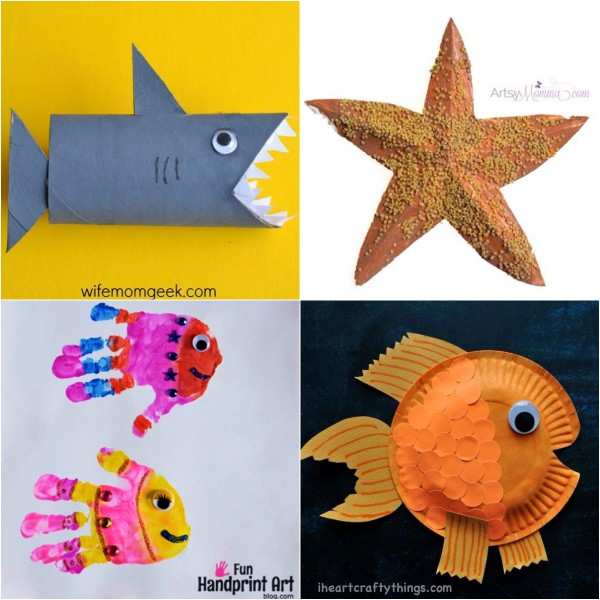 Shark, Starfish, and Fish Crafts for Kids