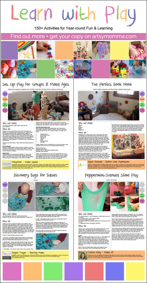 Learn with Play Book: 150+ fun kids activities, crafts, and learning with play!
