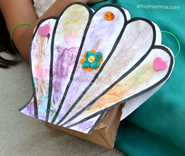 Seashell Mermaid Purse Craft Including A Seashell Template Artsy Momma