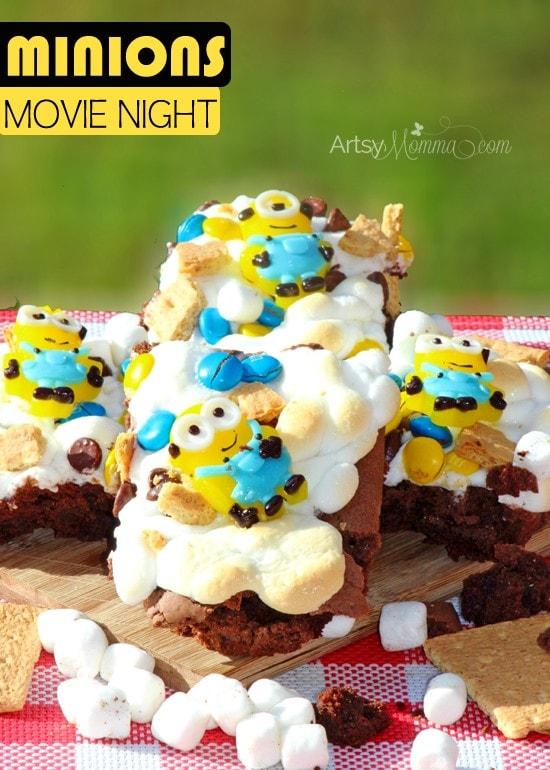 Minions Movie Snack: Brownie S'mores Recipe