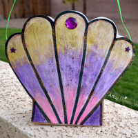 Seashell Mermaid Purse Craft including a Seashell Template