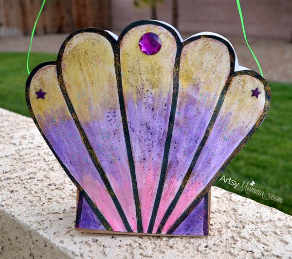Seashell Mermaid Purse Craft including a Seashell Template