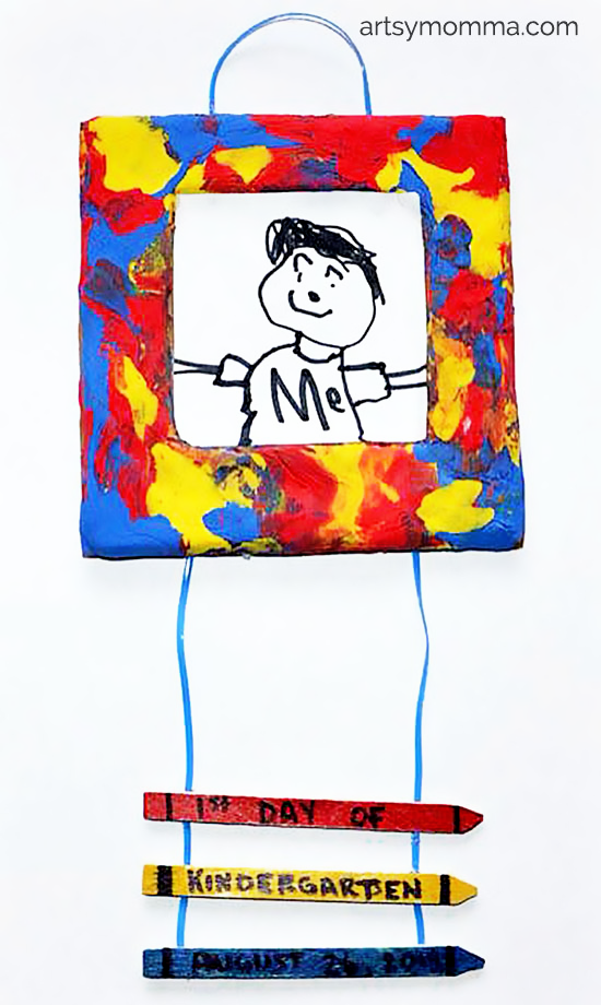 1st Day of School Picture Frame Craft Keepsake