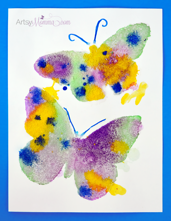 Butterfly Craft: The Magic of Salt Painting!