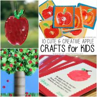 10 Cute & Creative Apple Crafts for Kids