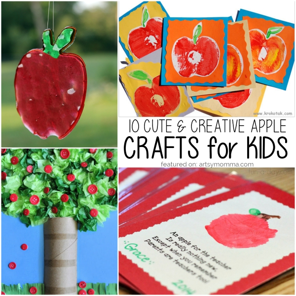 10 Creative Apple Crafts For Kids Of All Ages Artsy Momma
