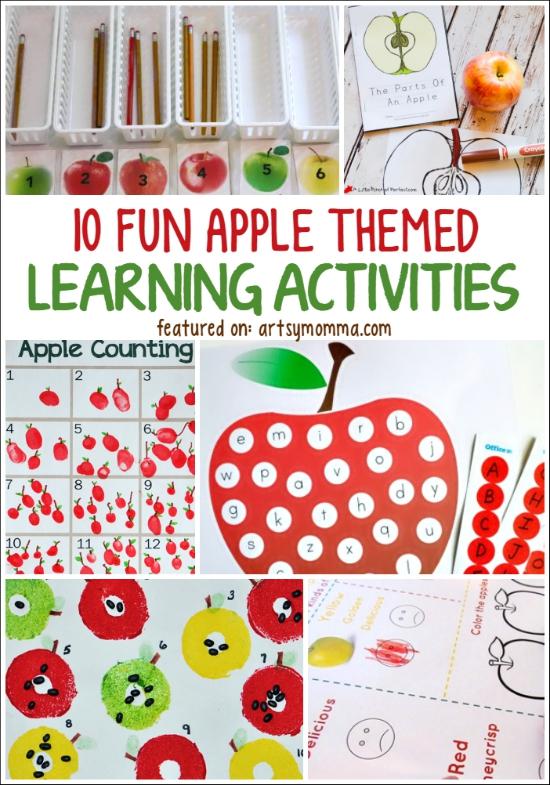 10 Fun Apple Themed Learning Activities