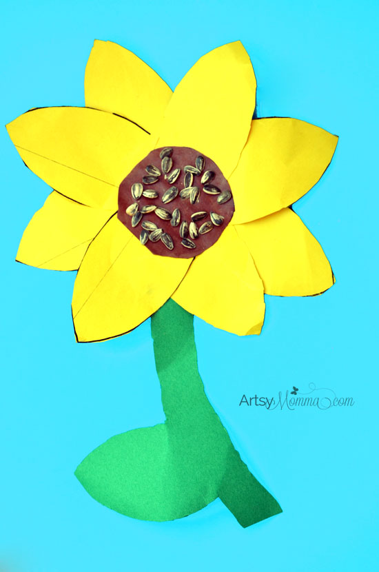 Sunflower Craft In 1st Grade