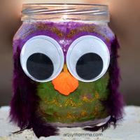 Decoupage Baby Food Jar Owl Craft for Kids