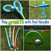 Play Sports with Pool Noodles!