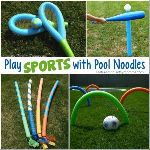 12+ Ways to Play Sports with Pool Noodles