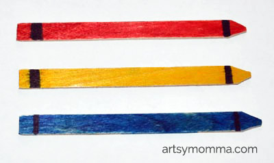 Posicle Stick Craft for Back to School