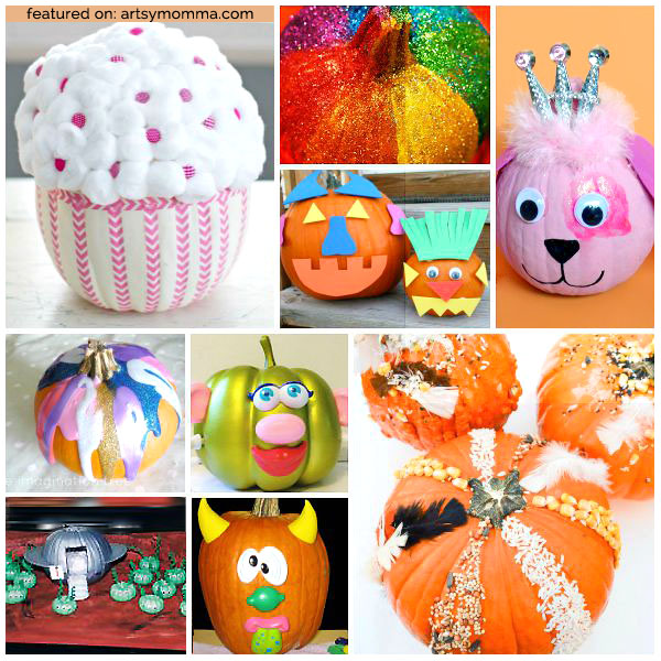 Artsy No Carve Pumpkin Pumpkin Painting Ideas