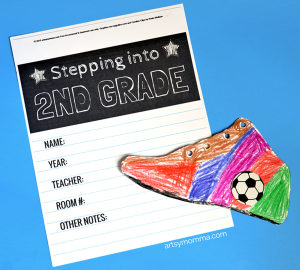 Stepping Into 2nd Grade Keepsake Printable & Shoe Craft