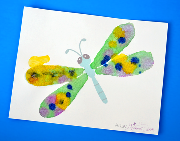 Salt Painting Dragonfly Craft
