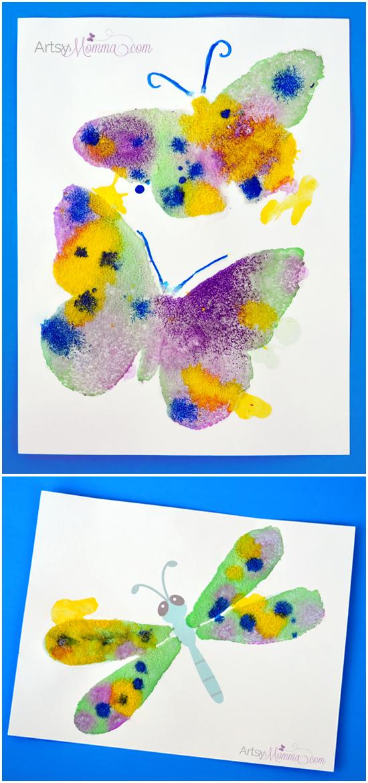 Salt Painting Process Art Activity