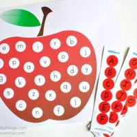 Fun ABC Apple Matching Printable for Preschoolers