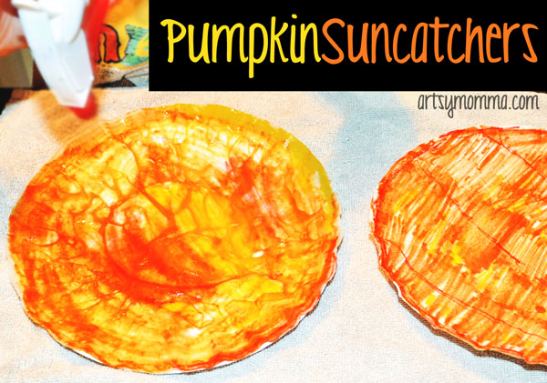 Coffee Filter Suncatchers for Halloween