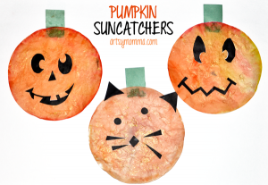 Halloween Suncatchers - Pumpkin Craft for Kids