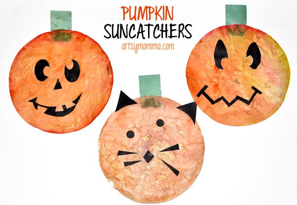 Halloween Suncatchers - Pumpkin Craft for Kids